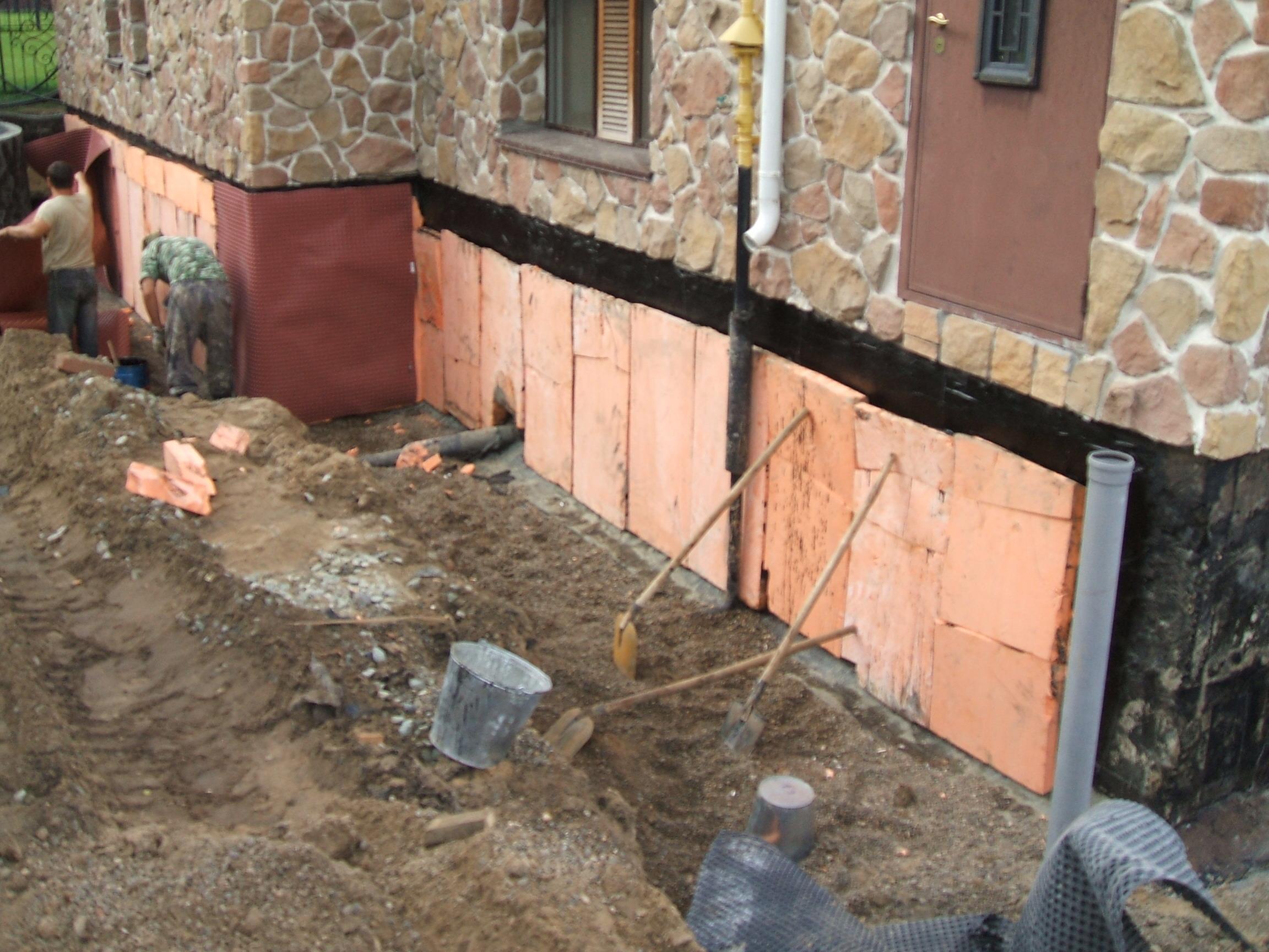 Дренаж вокруг дома на глинистых почвах