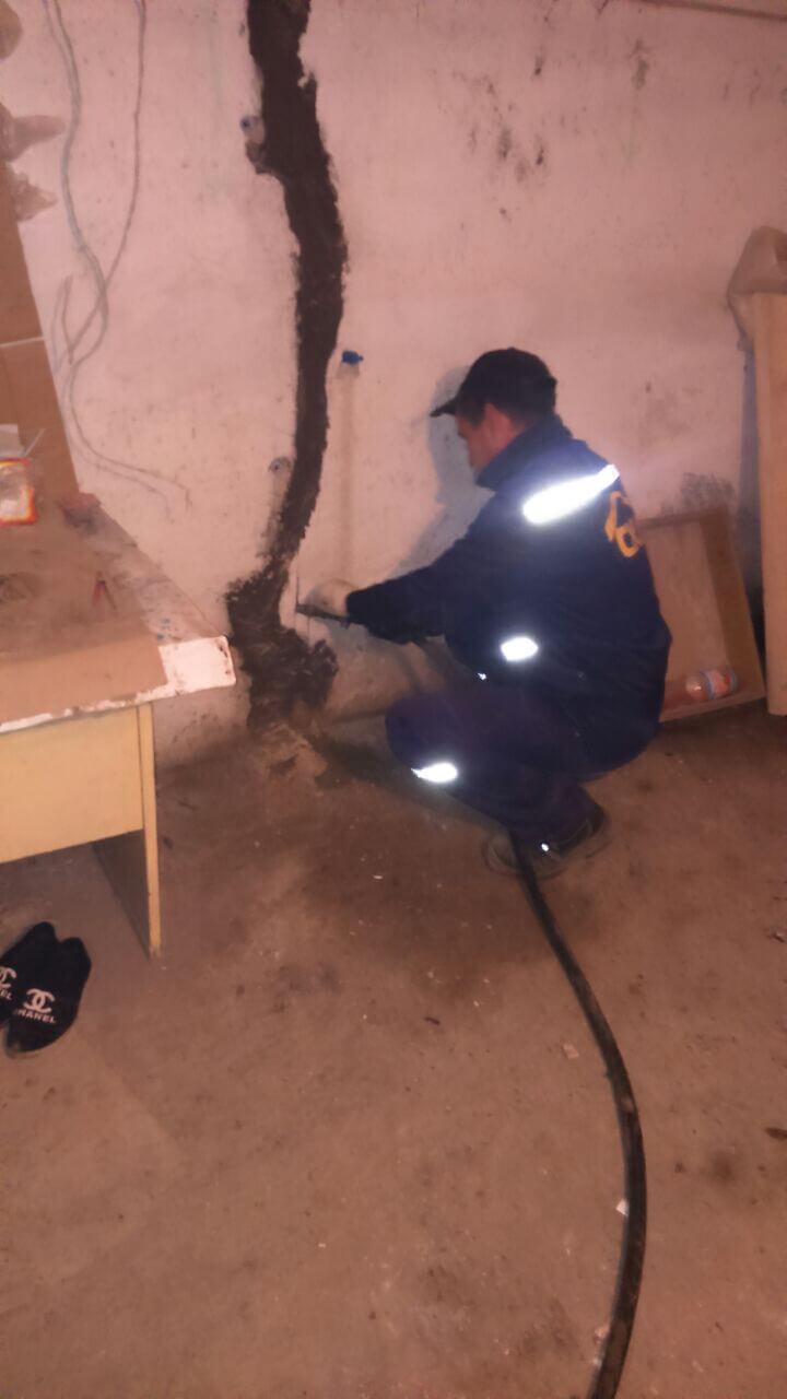 Рис 2 Рабочий процесс инъецирование трещин на объекте