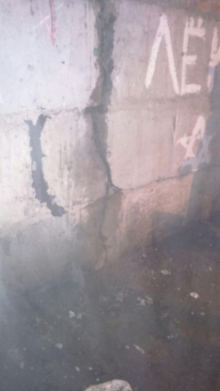 Рис 6 Рабочий процесс инъецирование трещин на строительным объекте