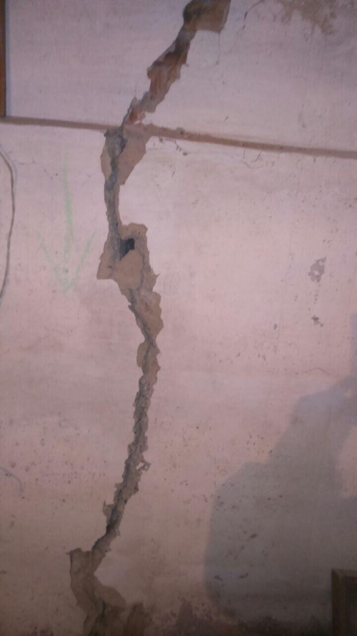 Рис 5 Рабочий процесс инъецирование трещин на строительным объекте