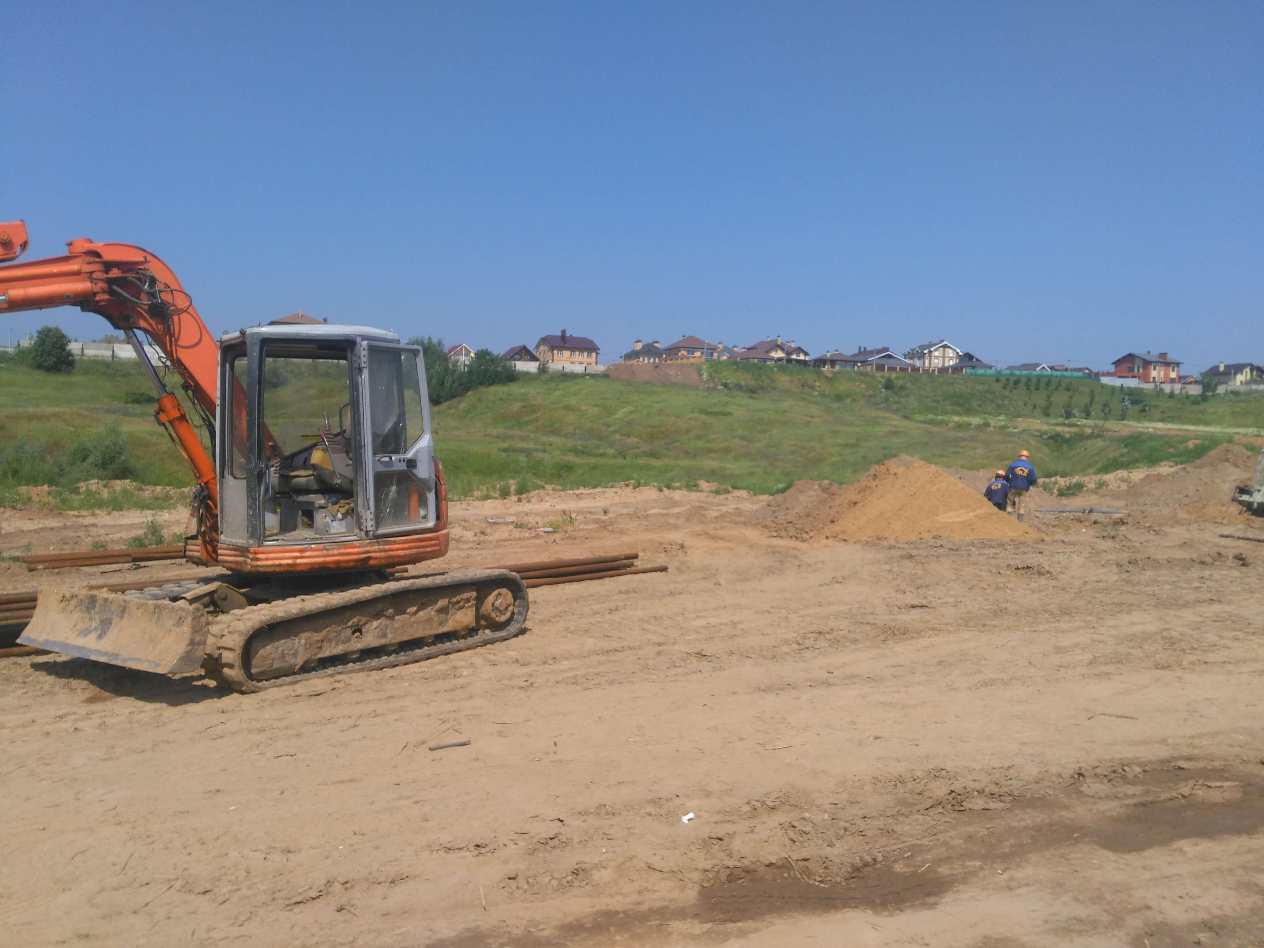 Рис 8 Рабочий процесс Устройства Jet свай на строительным объекте
